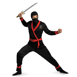 Ninja Master Adult Plus Costume 100-212318