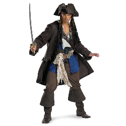 Captain Jack Sparrow Prestige Adult Plus Costume 100-212353