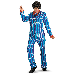 Austin Powers Carnaby Street Blue Suit Deluxe Adult Costume 100-212423
