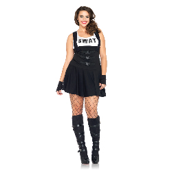 Sultry SWAT Officer Adult Plus Costume 100-212735