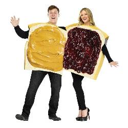 Peanut Butter And Jelly Couple Adult Costume 100-213698