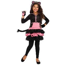 Black Kitty Hoodie Child Costume 100-216331