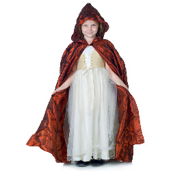 Red Pintuck Cape (Child) 100-215858