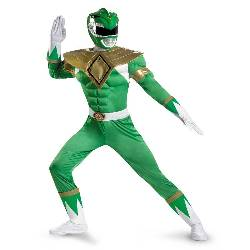 Power Rangers Green Ranger Classic Muscle Adult Costume 100-213919