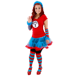 Cat In The Hat Thing 1 And Thing 2 Tutu Adutl Costume 100-217303