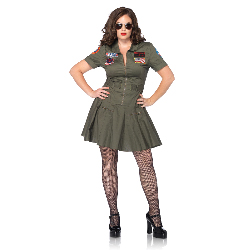 Top Gun Adult Plus Flight Costume 100-217457