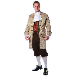 Colonial Man Plus Adult Costume 100-218502