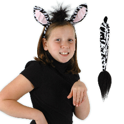 Zebra Ears and Tail Kit 100-218014