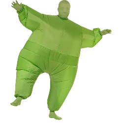 Green Inflatable Adult Suit 100-217465