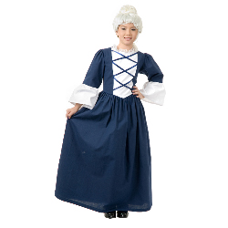 Martha Washington Child Costume 100-216983