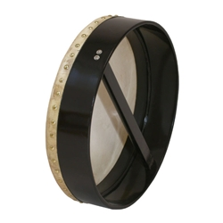 "Bodhran 18""x3.5"", Fix, Black, Single BTGTB"