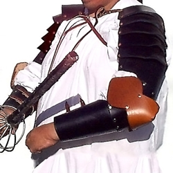 Full Leather Arm Armour Leather Elbow BTS-2132
