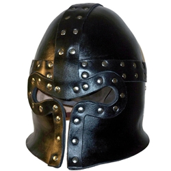 Leather Barbuta 15th Century Helmet BTS-4030