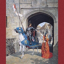 I Shall Fail Thee Not Medieval Greeting Cards D5