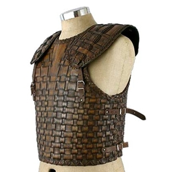 LARP Troy Style Leather Cuirass DC-667