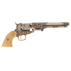 Colt 1851 Revolver Engraved Model Nickel