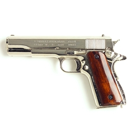 M1911 .45 Caliber Automatic Pistol Nickel Non Firing FD1227NQ