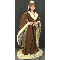 Burgundian Gown and Henin 15th Century GH0053