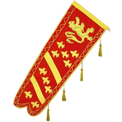 Medieval Heraldic Banner with Tassels GH0077