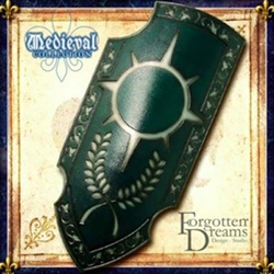 Forgotten Dreams LARP Paladin Shield Green M110P04Ng