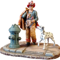 New York Fire Fighter 2-Resin Figurine MEFWR007