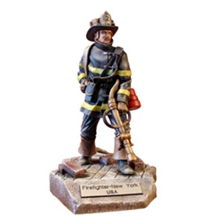 New York Fire Fighter 4-Resign Figurine MEFWR009