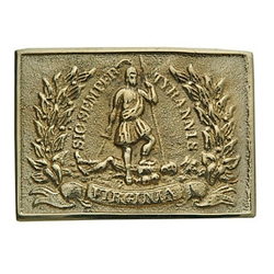 Virginia Brass Belt Buckle 1852 ONC07