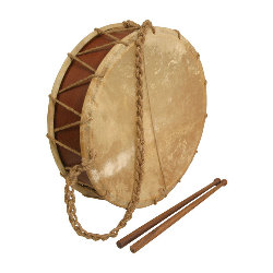 Medieval Tabor Drum 14 Inch with Sticks TB14