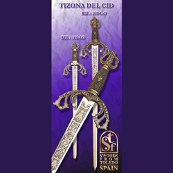 Tizona del Cid Small Short Sword Gold TS-100-I-O