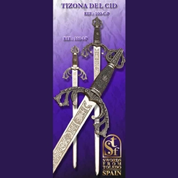 Tizona del Cid Small Short Sword Silver TS-100-I-P