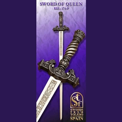 Toledo Queen's Ceremonial Sword, Silver TS-174-P
