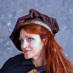 Renaissance Muffin Hat with Trim TT-223