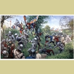 The Battle of Tewkesbury Medieval Art Print TY-35