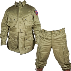 US WWII Paratrooper Pants and Jacket Set - Non Reinforced