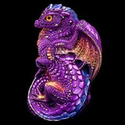 Young Dragon Sculpture Amethyst