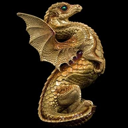 Rising Spectral Dragon Sculpture Gold
