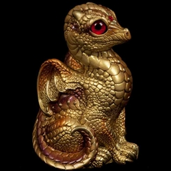 Baby Dragon Gold Statue
