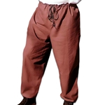 Drawstring Cotton Pants for LARP Medieval or Renaissance
