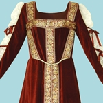 Medieval Lady Jane Velvet Dress 100898