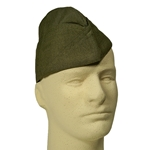 US Wool Garrison Cap Early - OD Serge - WW2 Repro