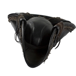 Deluxe Leather Pirate Hat in Black