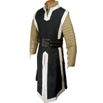 Medieval Tabard Black with White Trim