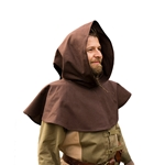 Basic Medieval Hood - Brown