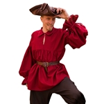 LARP Pirate Shirt - Deep Red