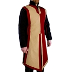 Basic Medieval Tabard Red and Tan