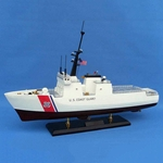 National Security Cutter Model Wooden Ship 18in
