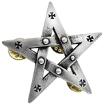 Pentagration Pin Badge Pewter Alchemy 17-APB2