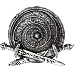 War Band Belt Buckle Pewter Alchemy 17-B99