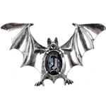 Drakvlya Gem Bat Brooch Pewter Alchemy 17-BCH1