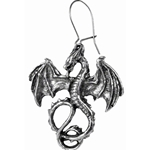 Wyverex Dragon Earring Pewter Alchemy E175